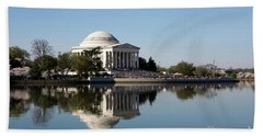 Jefferson Memorial Cherry Blossom Festival Beach Sheet