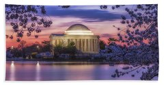 Jefferson Memorial Pre-dawn Beach Sheet