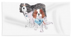 Jeffs Dogs Watercolor Kmcelwaine  Beach Towel