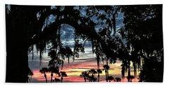 Jekyll Island Georgia Sunset Beach Towel by Walt Foegelle