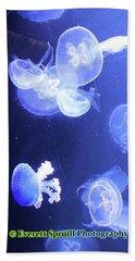 Jelly Fish At Parisian Aquarium Beach Sheet