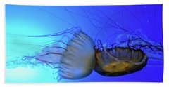 Jellyfish Collision Beach Towel