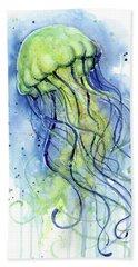 Jellyfish Watercolor Beach Towel