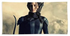 Jennifer Lawrence The Hunger Games  2012 Publicity Photo Beach Towel