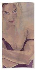 Jenny In Purple Beach Towel