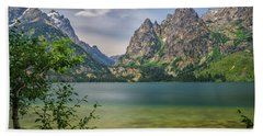 Jenny Lake In The Grand Tetons Beach Sheet