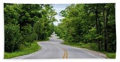 Beach Sheet featuring the photograph Jens Jensen's Winding Road by Randy Scherkenbach