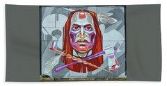 Jersey City Mural # 15 Beach Towel