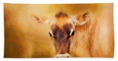 Jersey Cow Farm Art Beach Towel