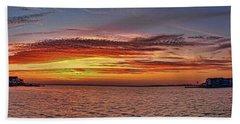 Jersey Shore Panorama Ship Bottom Beach Towel