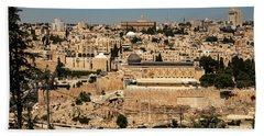 Beach Towel featuring the photograph Jerusalem by Mae Wertz