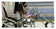Jessica Alba, Captain America, Easy Rider Beach Towel