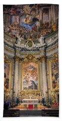 Beach Towel featuring the photograph Jesuit Church Rome Italy by Joan Carroll