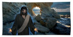 Jesus Christ- And Surely I Am With You Always Beach Towel