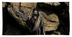 Jesus Christ- Be Blessed And Prosper Beach Towel