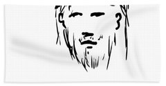 Jesus Christ Head Beach Towel