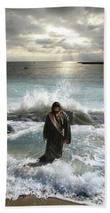 Jesus Christ- I Have Come As A Light Into The World Beach Towel