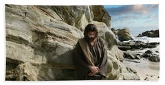 Jesus Christ- I Have Heard Your Prayer And Seen Your Tears I Will Heal You Beach Towel