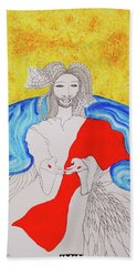 Jesus Messiah Second Coming Beach Towel