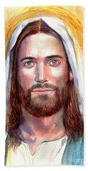 Jesus Of Nazareth Painting Beach Towel