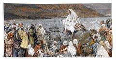 Jesus Preaching Beach Towel