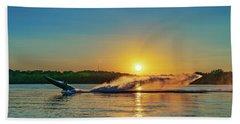 Jet Boat Wheelie  Beach Towel