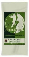 Jethro Tull Signed Poster Beach Towel