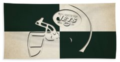 Jets Helmet Art Beach Towel