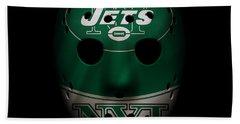 Jets War Mask 2 Beach Towel