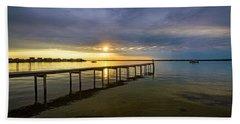 Jetty Four Bayside Sunset Beach Towel