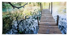 Beach Towel featuring the photograph Jetty by Lana Enderle