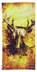 Jewel Deer Head Art Beach Towel