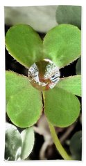 Jeweled Clover Beach Towel