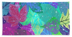 Jeweled Leaves Beach Towel