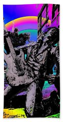 Jimi Hendrix Beach Towel by Tim Allen