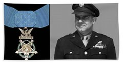 Jimmy Doolittle And The Medal Of Honor Beach Towel