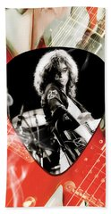 Jimmy Page Art Beach Towel by Marvin Blaine