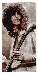 Jimmy Page By Mary Bassett Beach Towel