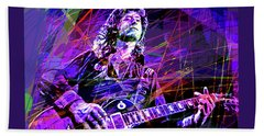 Jimmy Page Solos Beach Towel