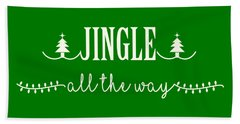 Jingle All The Way Beach Towel