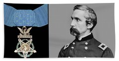 J.l. Chamberlain And The Medal Of Honor Beach Towel
