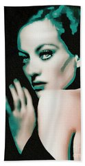 Joan Crawford - Pop Art Beach Towel