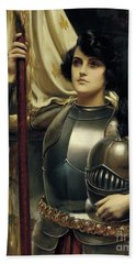 Joan Of Arc Beach Towel by Harold Hume Piffard