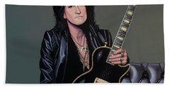 Joe Perry Of Aerosmith Painting Beach Towel