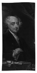 Beach Sheet featuring the photograph John Adams Second Potus by Richard W Linford