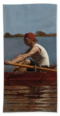 John Biglin In A Single Scull Beach Towel