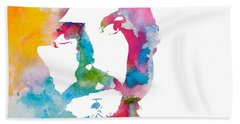 John Bonham Watercolor Beach Towel