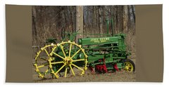 John Deer Tractor Beach Towel