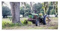 John Deer - Work Day Beach Towel by Scott Hansen