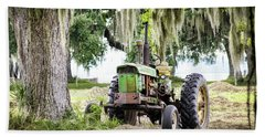 John Deere - Hay Day Beach Towel by Scott Hansen
